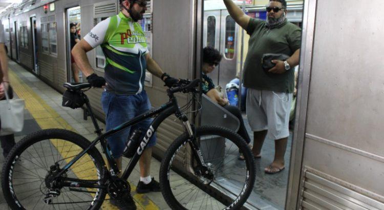 Bicicletas no Metrô Sp