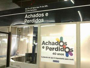 ACHADOS E PERDIDOS-METRÔ SP
